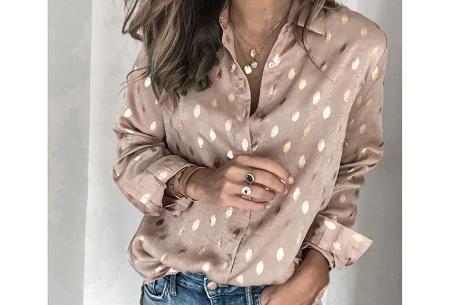 Trendy blouse | Dames blousje in diverse printjes Champagne