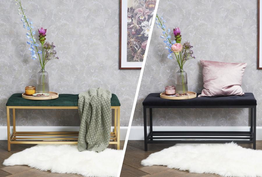 Fluwelen halbank - Industriële meubels in de sale