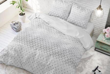 Dekbedovertrek van Sleeptime met print | Dekbedhoes in 6 printjes Gino 2 anthracite