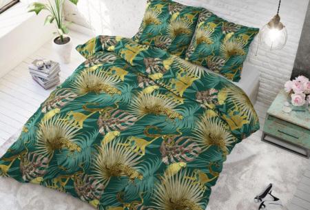 Dekbedovertrek van Sleeptime met print | Dekbedhoes in 6 printjes Golden botanical