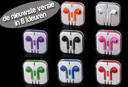 Oordopjes in 8 kleuren voor iPhone, iPod en iPad van €25,00 nu €5,95!