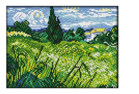 Borduurpakket | Maak de mooiste schilderijen met deze complete borduurset #8 Landschap