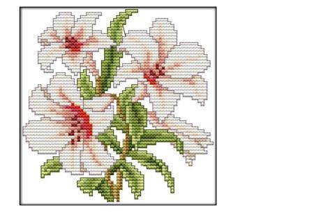 Borduurpakket | Maak de mooiste schilderijen met deze complete borduurset #3 Lelies