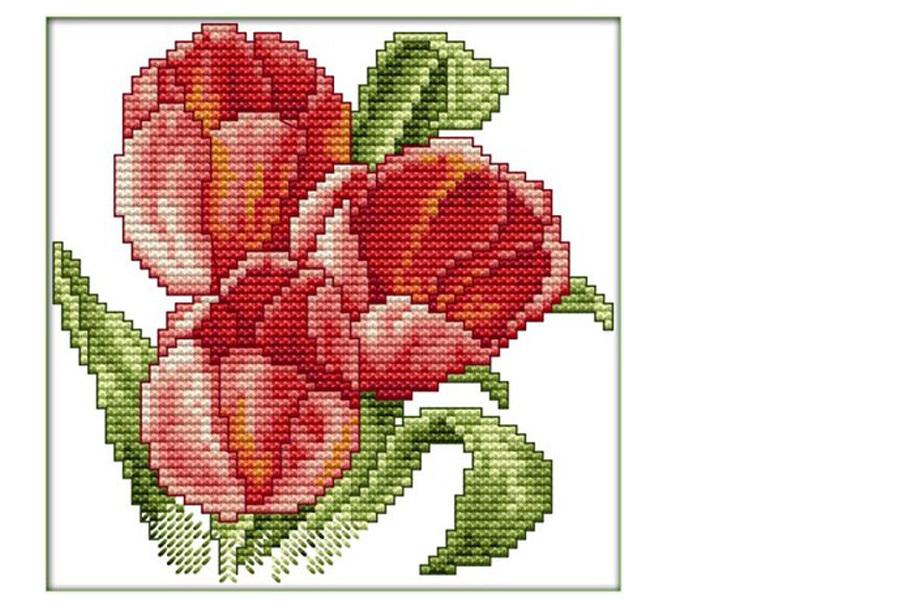 Borduurpakket #4 Tulpen