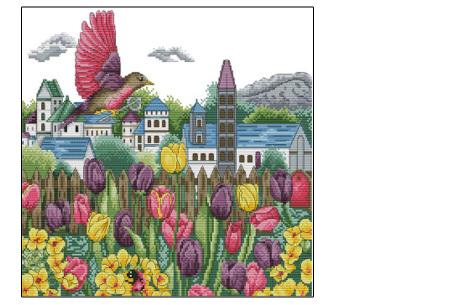 Borduurpakket | Maak de mooiste schilderijen met deze complete borduurset #10 Vogel