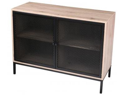 Soho industriële salontafel of buffetkast van Urban Living   Trendy meubelen van hout en zwart metaal Buffetkast
