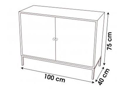 Soho industriële salontafel of buffetkast van Urban Living   Trendy meubelen van hout en zwart metaal