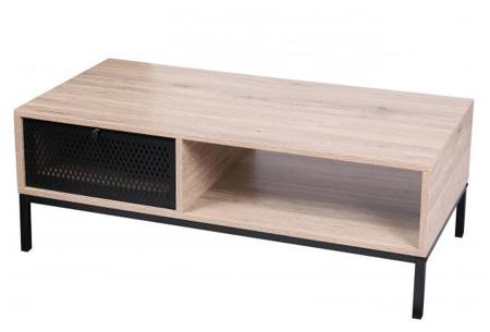 Soho industriële salontafel of buffetkast van Urban Living   Trendy meubelen van hout en zwart metaal Salontafel