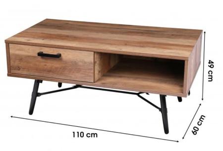 Houten salontafel en tv-meubel van Urban Living | Prachtige industriële meubels in de aanbieding Salontafel