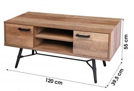 Houten salontafel en tv-meubel van Urban Living | Prachtige industriële meubels in de aanbieding Tv-meubel