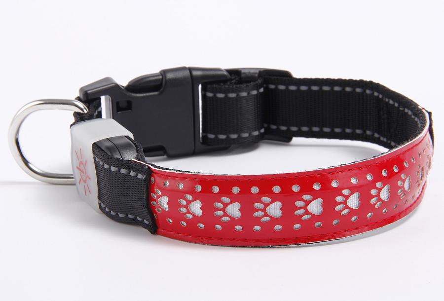 Hondenhalsband met licht Maat M - Rood