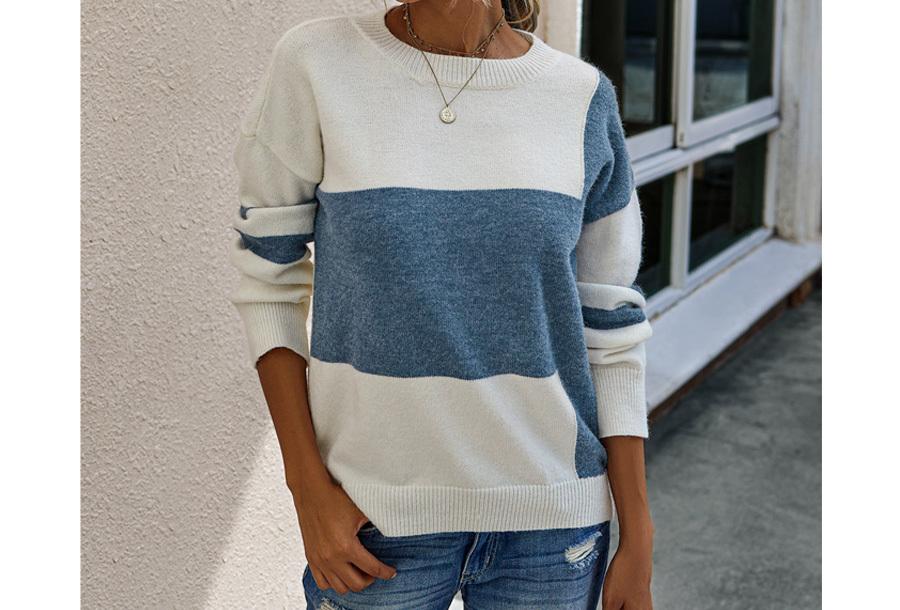 Colorblock trui Maat M - Blauw