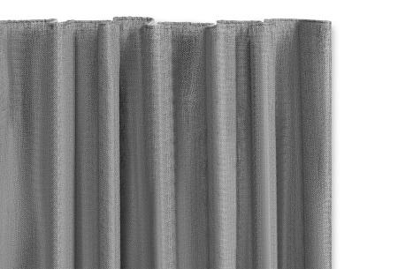 Luxe verduisteringsgordijnen kant en klaar van Lifa Living | Geweven kwaliteit met haken of ringen Zilvergrijs haken