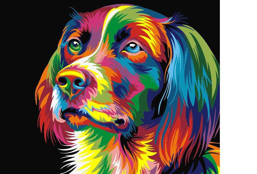 Schilderen op nummer #10 Hond 1