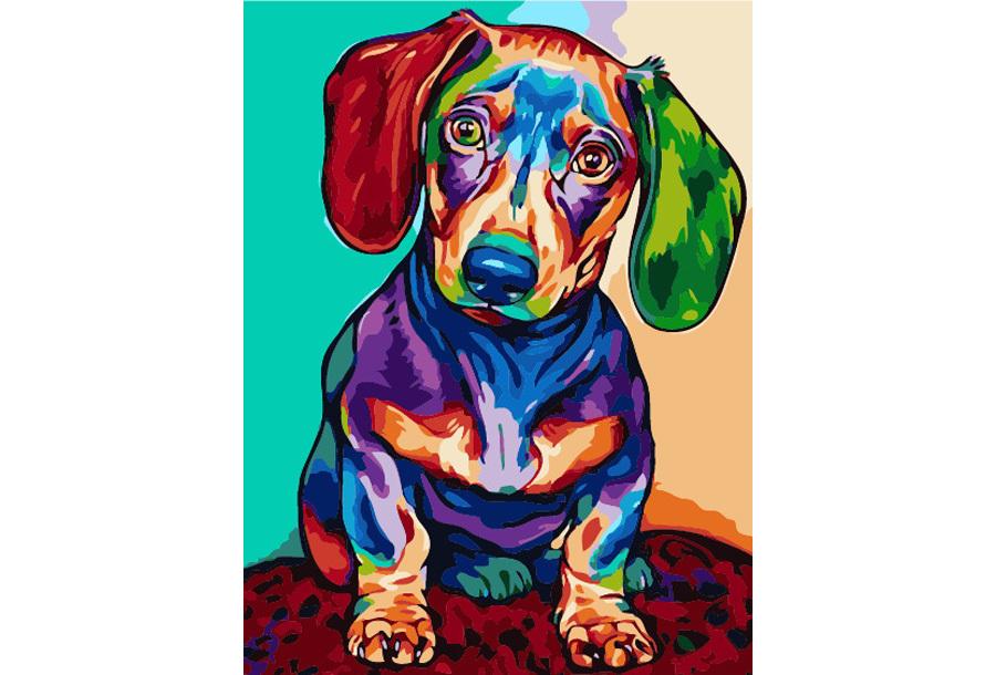 Schilderen op nummer #15 Hond 3