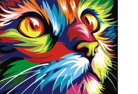 Schilderen op nummer | Kleurrijke schilderijen maken - keuze uit 17 dieren #1