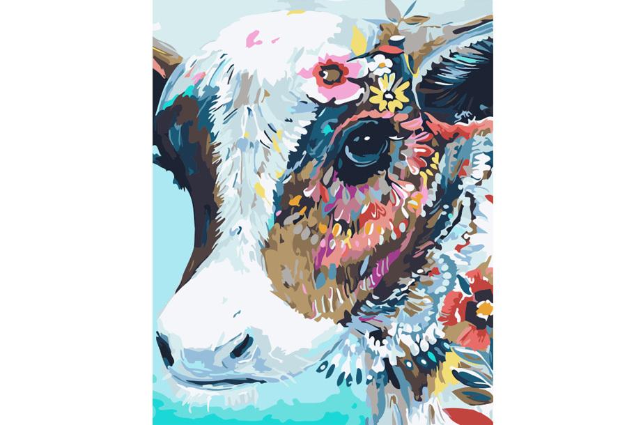 Schilderen op nummer #5 Koe