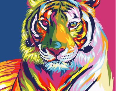 Schilderen op nummer | Kleurrijke schilderijen maken - keuze uit 17 dieren #6