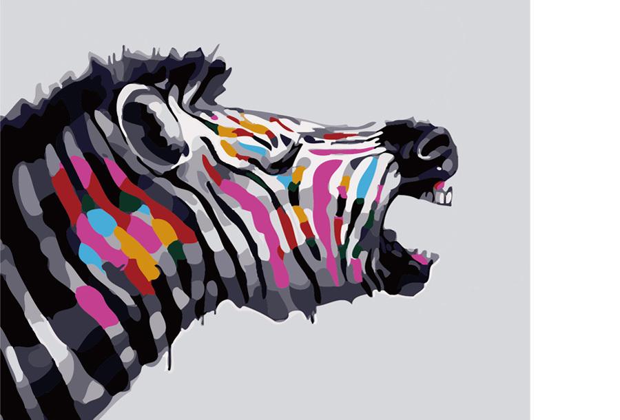 Schilderen op nummer #2 Zebra