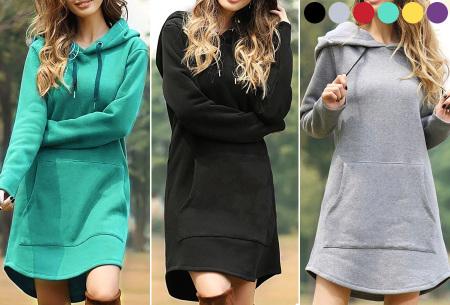 Sweater dress voor dames | Comfortabele en warme trui jurk met fleece binnenzijde