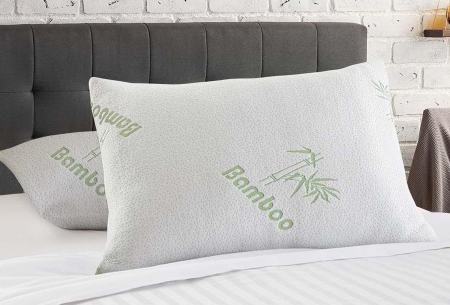 Bamboo Air Pillow   Ga voor een goede nachtrust met één van deze bamboe hoofdkussens