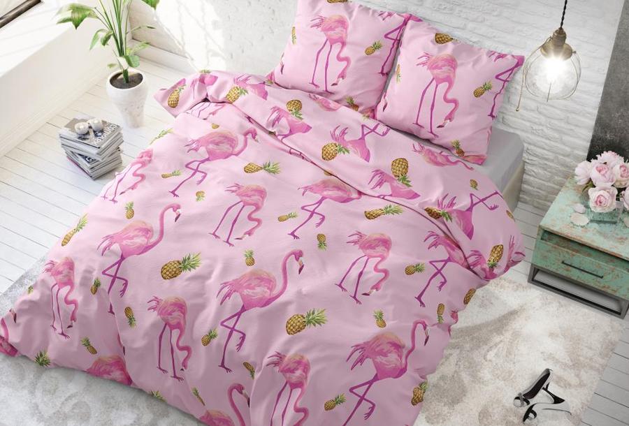 Tropische dekbedovertrekken Maat 240 x 220 cm - Tropical Flamingo