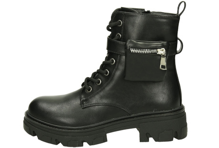 Enkellaarsjes voor dames   Stoere biker boots met veters - in 2 uitvoeringen BES-RQ347