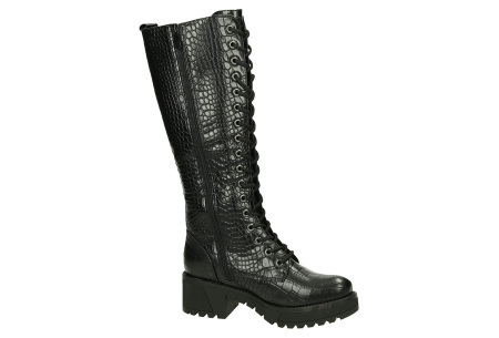 Hoge laarzen in de sale   Biker boots dames nu heel goedkoop