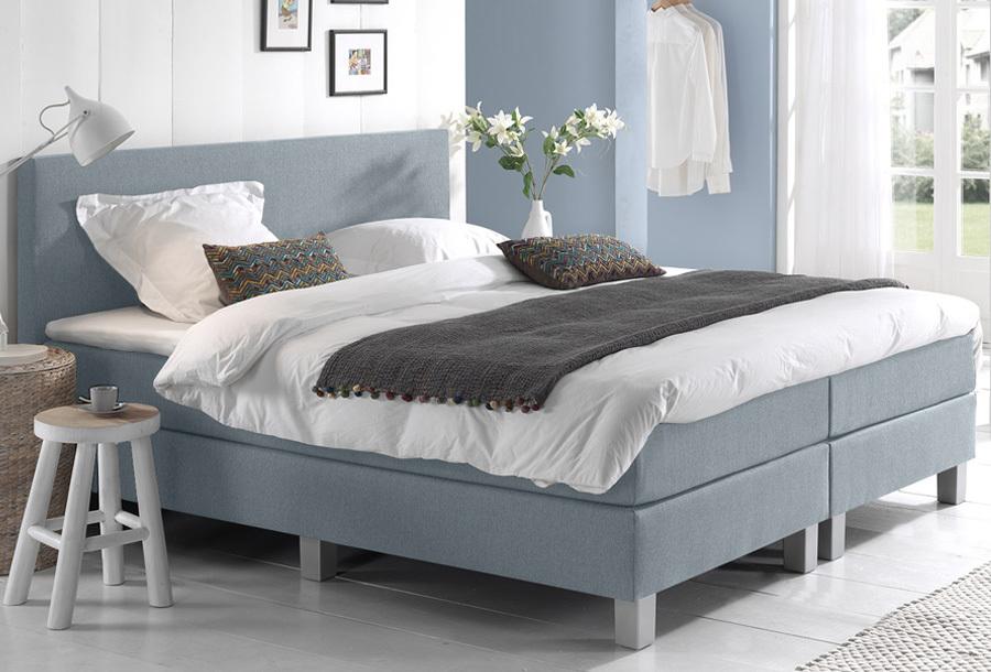 Dreamhouse Comfort 2.0 boxspring 140 x 200 cm - Blauw + montage