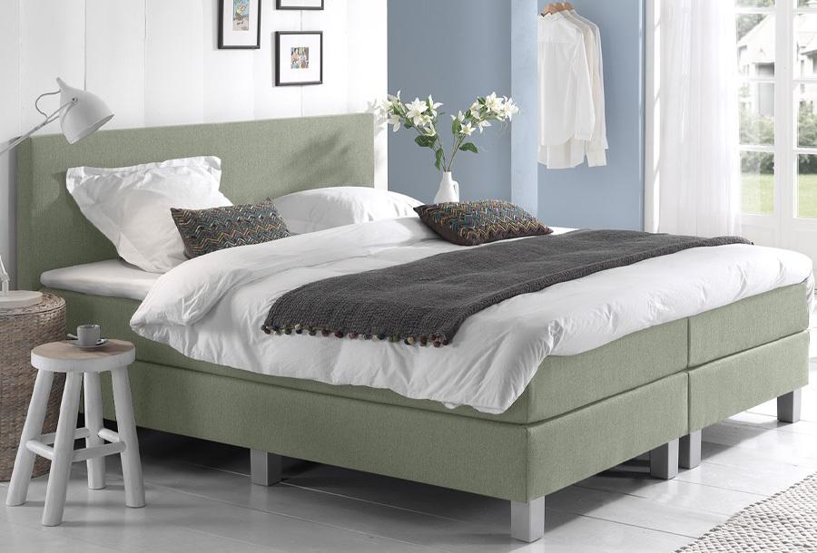 Dreamhouse Comfort 2.0 boxspring 160 x 200 cm - Groen + montage