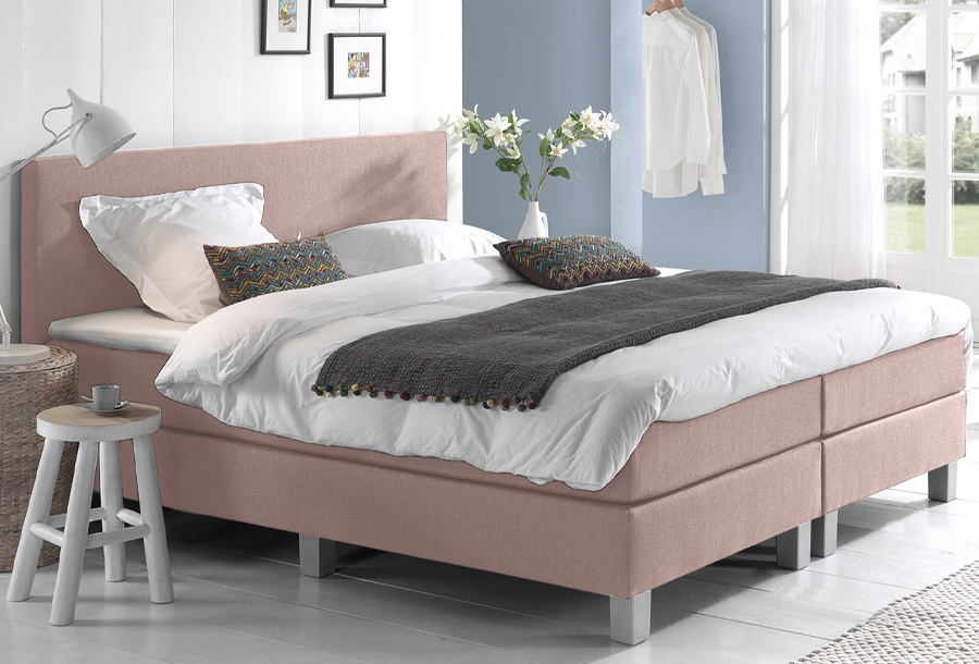 Dreamhouse Comfort 2.0 boxspring 180 x 200 cm - Roze + montage
