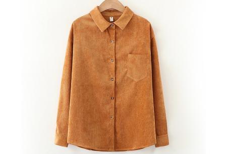 Blouse van corduroy | Trendy overhemd in 7 kleuren Roestbruin