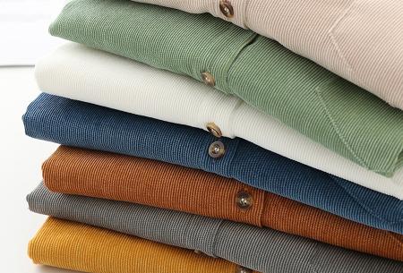Blouse van corduroy | Trendy overhemd in 7 kleuren