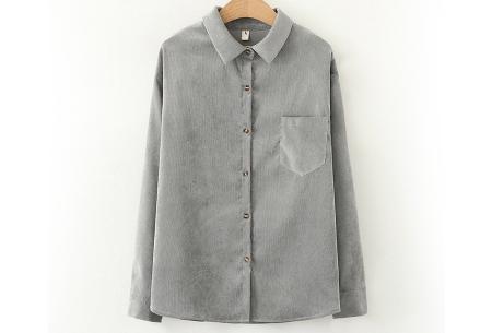 Blouse van corduroy | Trendy overhemd in 7 kleuren Grijs