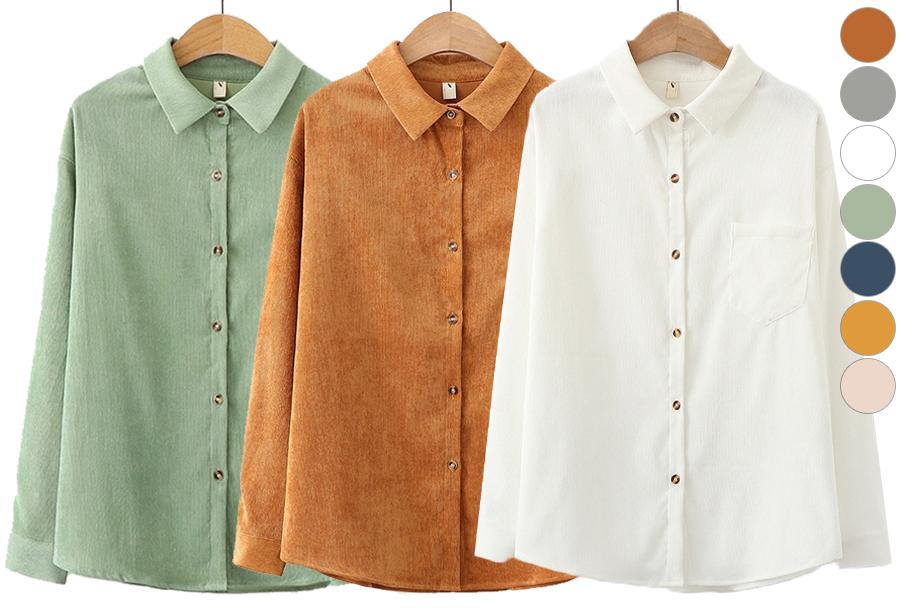 Dames blouse van corduroy in de sale