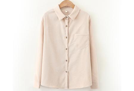 Blouse van corduroy | Trendy overhemd in 7 kleuren Nude