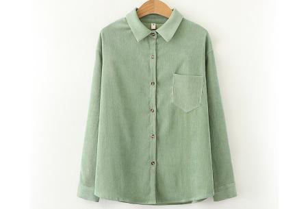Blouse van corduroy | Trendy overhemd in 7 kleuren Mintgroen