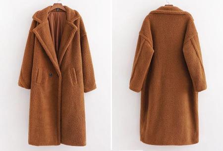 Superzachte teddy winterjas voor dames | Trendy teddy coat in 8 verschillende kleuren Bruin