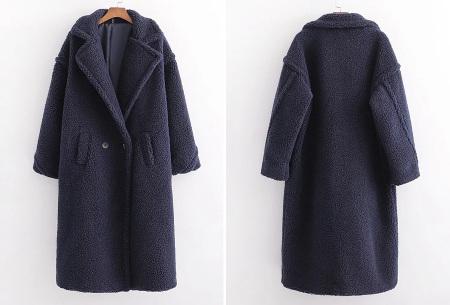 Superzachte teddy winterjas voor dames | Trendy teddy coat in 8 verschillende kleuren Donkerblauw