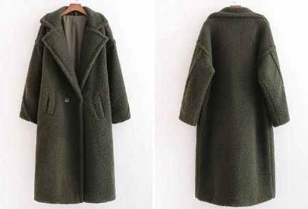 Superzachte teddy winterjas voor dames | Trendy teddy coat in 8 verschillende kleuren Legergroen