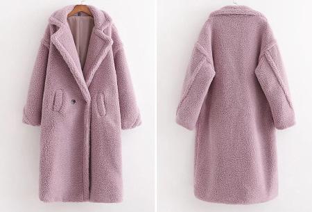 Superzachte teddy winterjas voor dames | Trendy teddy coat in 8 verschillende kleuren Lichtpaars