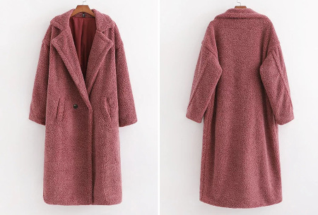 Superzachte teddy winterjas voor dames | Trendy teddy coat in 8 verschillende kleuren Oudroze