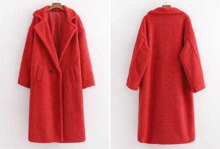 Superzachte teddy winterjas voor dames | Trendy teddy coat in 8 verschillende kleuren Rood