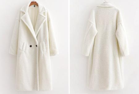 Superzachte teddy winterjas voor dames | Trendy teddy coat in 8 verschillende kleuren Wit