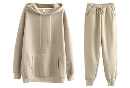 Fleece huispak dames | Warm en comfy joggingpak Khaki