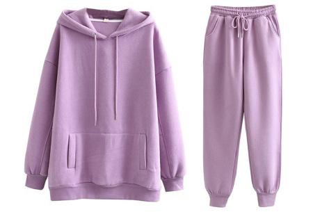 Fleece huispak dames | Warm en comfy joggingpak Lila