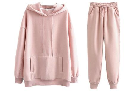 Fleece huispak dames | Warm en comfy joggingpak Roze