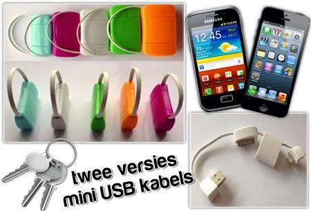 USB kabel sleutelhanger t.w.v. €19,95 nu GRATIS! Smartphone/tablet gadget!