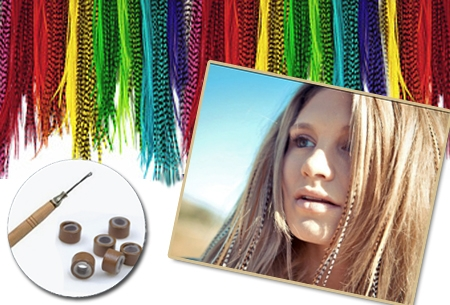 Pakket van 20 Grizzly hairextensions