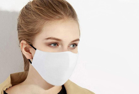 3-pack wasbare mondkapjes | Herbruikbare stoffen mondmaskers van 100% katoen wit